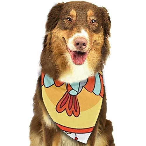 RAHJK Hunde Bandana,Weihnachts Kragen Schal Lätzchen, Dreieckstuch Halsbänder Haustier für Kleine, Mittelgroße Große Hunde Katzen Custume Amerika Trommel Tamburin