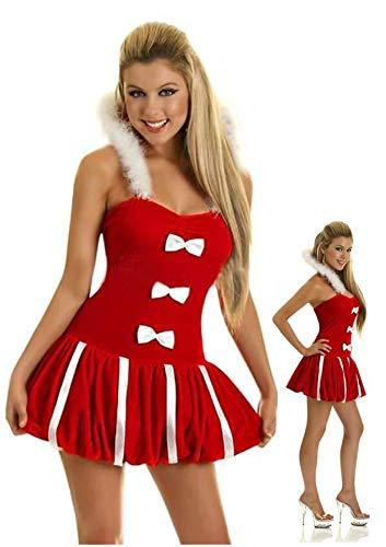 MAIMOMO Panties & Hipsters Für Damen Midnight Charm Fun Uniform Großhandel Halloween Kostüm Weihnachten Uniform Weihnachten Kleid, Rot, One Size