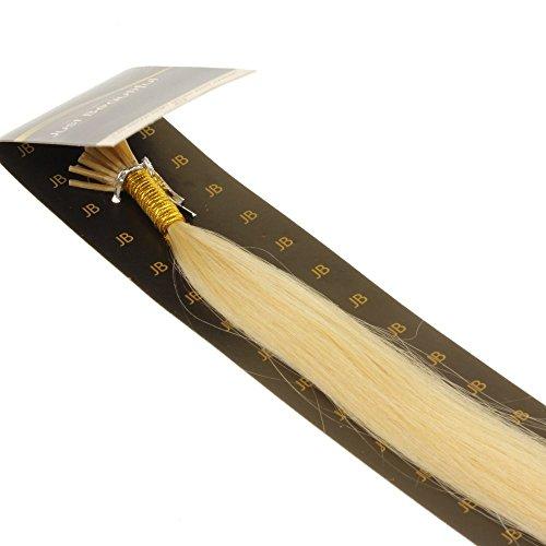 Just Beautiful Hair and Cosmetics Extensions capillaires avec micro anneaux pour pose à froid Cheveux naturels Remy 40 cm 0,5 g par mèche
