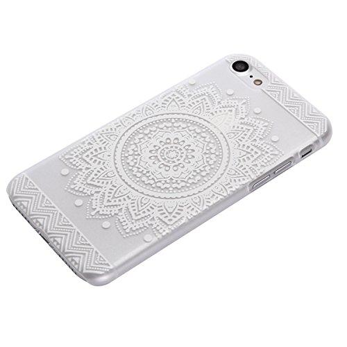 """MOONCASE iPhone 7 Coque, Premium Durable Ultra-Mince Transparente Housse Étui de Protection avec Motif Blanc [Anti-rayures] Case Cover pour iPhone 7 4.7"""" - Clear 02 Clear 01"""
