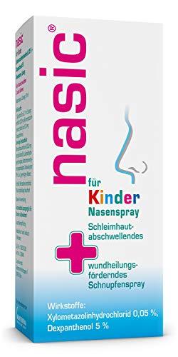 nasic für Kinder Nasenspray mit dem Wirkplus - Abschwellendes & wundheilungsförderndes Schnupfenspray für Kinder ab 2 Jahren - Mit Xylometazolin & Dexpanthenol - 10 ml