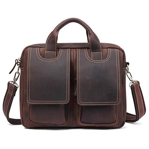 Briefcase Home Vintage Leder Herren Tasche Europäische und Amerikanische Casual Herren Business Aktentasche - Europäische Aktentasche
