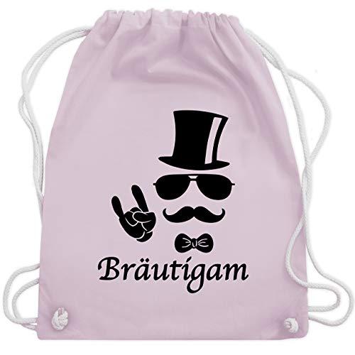 JGA Junggesellenabschied - Bräutigam Hipster Suit up - Unisize - Pastell Rosa - WM110 - Turnbeutel & Gym Bag