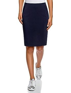 oodji Ultra Mujer Falda-Lápiz de Punto