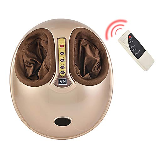 WWSZ Fußmassagegerät Elektrisch mit Infrarot Wärmefunktion Shiatsu Fussmassage Kneten Klopf Füße mit Rollen & Luftkompression für Zuhause Büro(220V, 45W)
