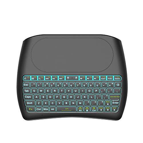 WHQ Hintergrundbeleuchtung Englisch Russisch Spanisch 2,4 GHz Wireless Mini-Tastatur Air Mouse Touchpad 7 Farbe mit Hintergrundbeleuchtung für Android TV Box