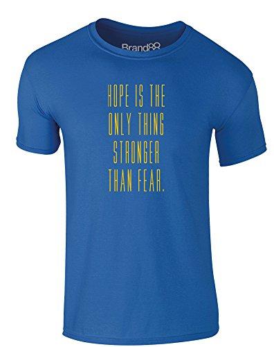 Brand88 - Stronger Than Fear, Erwachsene Gedrucktes T-Shirt Königsblau