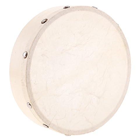 Gazechimp Handtrommel Trommel aus Holz Percussion Drums Musikinstrument Spielzeug - 4 / 6 / 7 / 8 / 10 Zoll - 7 Zoll
