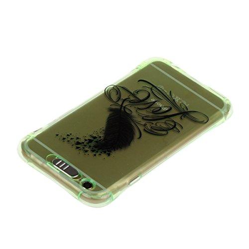 iPhone 6 Plus Hülle,iPhone 6S Plus Schutz Case,iPhone 6 Plus Cover - Felfy Utral Dünn Soft Überzug Bling Stern Glitzer Shiny Überzug Gel TPU Silikon & Plastic Rahmen & Blu-ray-Spiegel Hybrid Handy Hül Grün Love