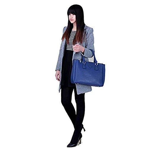 TrendStar Damen Entwerfer Imitat Leder Berühmtheit Stil stilvolle Abend Für Leinentrage Handtasche Marine 1