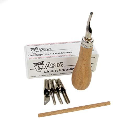 ABIG Lino-Schneid-Set aus Holz, QAQLCS