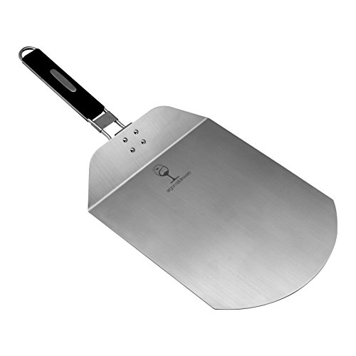 Argon Tableware Folding Pizza Peel / Bakers Paddle. Stainless Steel Blade, Ergonomic Handle