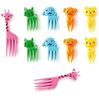 RONGXINUK 10pcs Bento Kawaii Animal Food Fruit Picks Forks Lunch Box Accessory Decor Tool