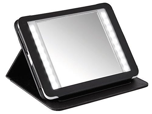 Nicol Kerry Kosmetikspiegel, Leder, Chrom, 29.3 x 20.3 x 3.8 cm