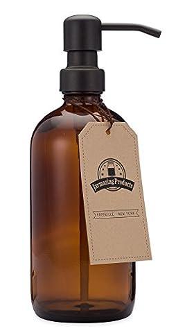 Jarmazing Products Ambre Bocal en verre Distributeur de savon et