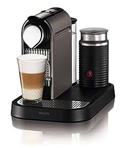 Nespresso CitiZ and Milk XN730T40 Coffee Machine by Krups - Titanium