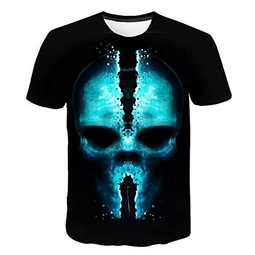DUANXIUGE Halloween T Shirts 3D Männer/Frauen T Shirt Allerheiligen Hallowmas Allerheiligen Shirt Jungen/Mädchen T-Shirt