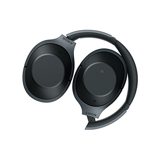 Sony MDR-1000X kabelloser High-Resolution Kopfhörer (Noise Cancelling, Sense Engine, NFC, Bluetooth, bis zu 20 Stunden Akkulaufzeit) schwarz - 2