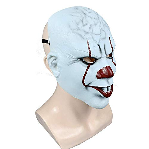 Zum Verkauf Scary Kostüm Clown - MU Maskerade Halloween Clown Droll Gruselig Scary Cosplay Kostüm Maske Latex Horror für Unisex Erwachsene Party Dekoration Requisiten Ghost Devil Dancing Kopfbedeckung