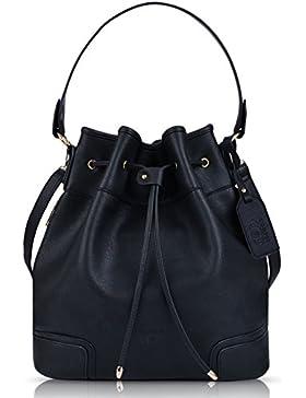 Beuteltasche, COOFIT Bucket Bag Umhängetasche Damen Handtasche Leder Schultertasche Original Design Umhänge Handtasche...