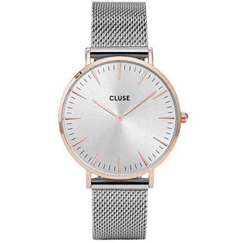 Cluse Damen-Armbanduhr Analog Quarz Edelstahl CL18116 -