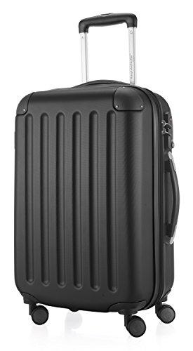 HAUPTSTADTKOFFER - Spree - 2er Koffer-Set Hartschale matt, TSA, 65 cm + 55cm, 82 Liter + 49 Liter, Schwarz Schwarz/Apfelgrün