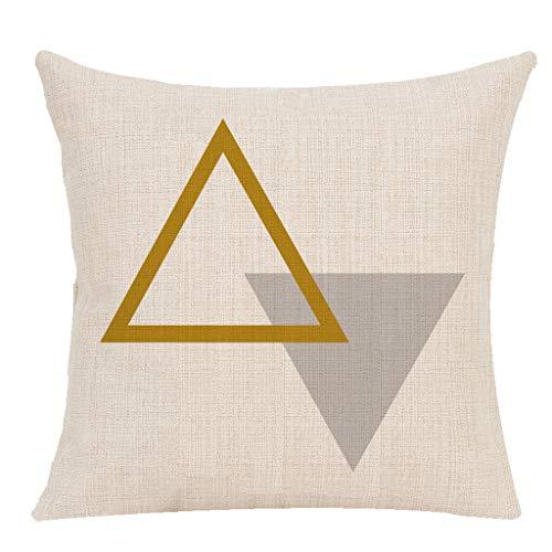Storerine Muttertag spezielle Kissen, geometrische Leinen gemischt Kissen Set Taille werfen Pad Set Home Sofa Dekoration spät