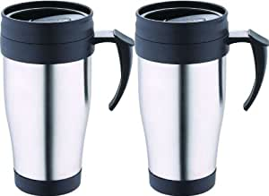thermobecher set 2 thermotassen aus edelstahl kaffeebecher coffee to go 400 ml trinkbecher. Black Bedroom Furniture Sets. Home Design Ideas