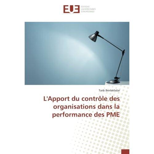 L'Apport du contrôle des organisations dans la performance des PME