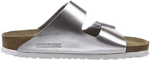 Birkenstock Arizona - Sandali con Cinturino alla Caviglia Donna Argento (Silber (Metallic Silver))