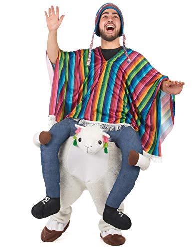Generique - Carry Me Lama Kostüm für Erwachsene (Lama Kostüm)