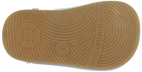 Azuis De Cordeiro Rangentes Do Bailarinas Pequenos Flor Sapatos Branco Velcro 7r6w7q