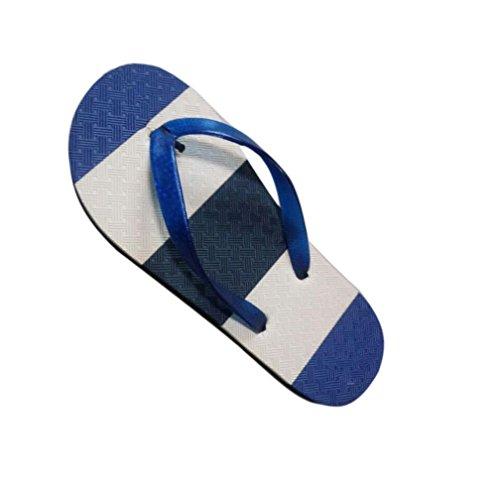Transer® Herren Zehentrenner Flach Dusche Strand PVA+Kunststoff Slipper (Bitte achten Sie auf die Größentabelle. Bitte eine Nummer größer bestellen. Vielen Dank!) Blau