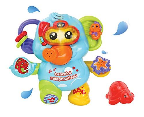 VTech- Lancelot L'ELEPHANT'Eau Baby Jouets Premier Age, 80-515305, Multicolore