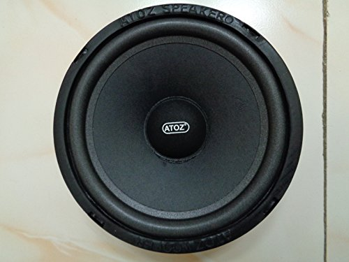 Crispy Deals ATOZ 8 inch 4 Ohm 40 Watts Ramp Sub Bass Cone Woofer (Black)