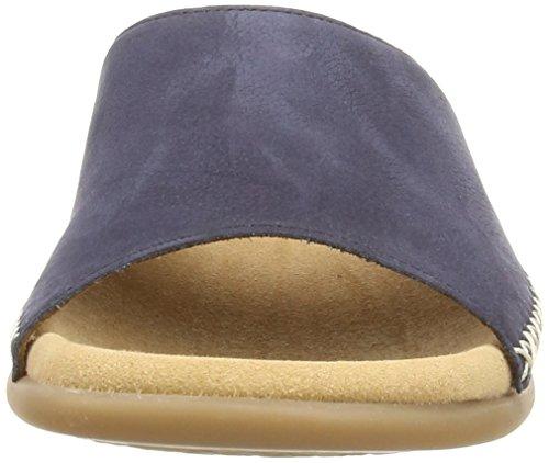 Gabor Fashion 03.705.13 Damen Pantoletten Blau (Dunkelblaues Nubukleder)