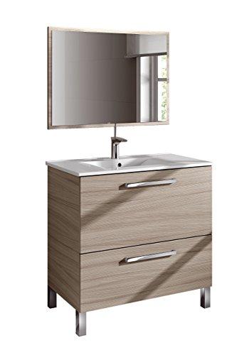 13casa atena a1 set mobile bagno + specchio. dim. 80*45*80h cm. melamina. naturale.
