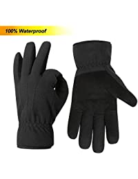 031c0726b79da5 Acdyion Herren Winter Fleece Handschuhe Wasserdicht 2018 Neues Design 3M  Thinsulate Wasserdichte und Winddichte Thermohandschuhe