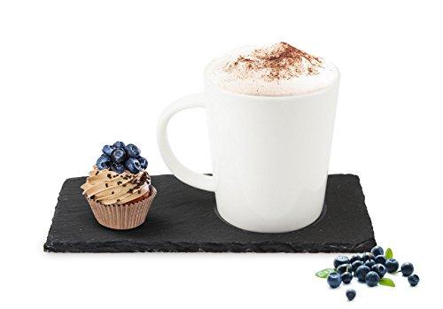 Sendez Kaffeetasse auf Schieferplatte Set Tasse Kaffeebecher Teetasse Becher Teebecher 1-6 Set (6)