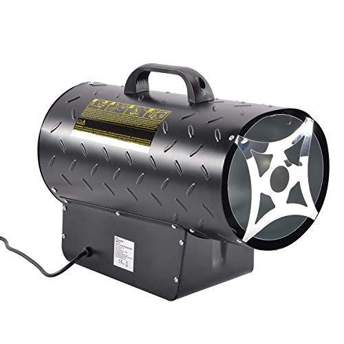 15kW / 51,000BTU Gas Heizgerät Industrieller LPG Propan Gas Raum Hochleistungsheizer mit elektrischem unterstütztem Ventilator Schwerlast Tragbares Design