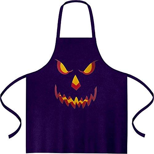 pf Smile Gruselig Kochschürze, Grillschürze, Latzschürze One Size Lila (Einfache Halloween-kürbis)