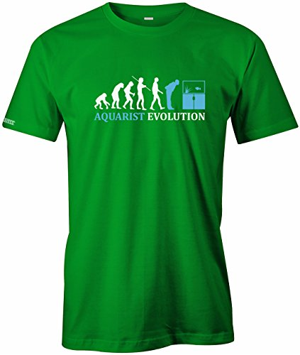 Aquarist Evolution - Tier Freund - Herren T-SHIRT Grün