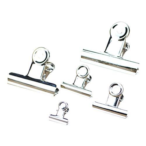 Vosarea 30pcs Edelstahl IPOW Chip Bag Clips, ideal für Air Tight Seal Grip auf Kaffee Essen Taschen, Küche Home Office Verwendung (Silber)