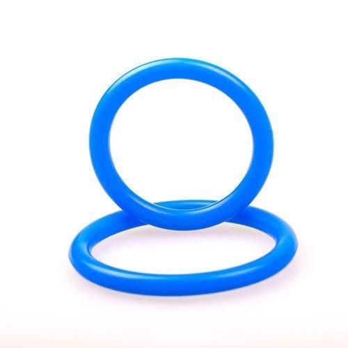 eeddoo® Silikon Penisringe & Cockringe – 2 Größen – blau (Penis Cock Pleasure Ring G-Punkt Stimulator Sexspielzeug für Männer & Frauen) - 3