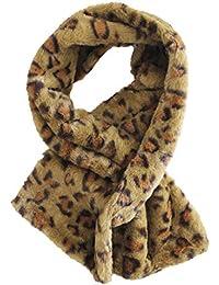 6600c83ab1 FERETI® Sciarpa Leopardato Collo In Capelli Leopardo Lungo Cucita Donna  Colli Inverno Fazzoletto