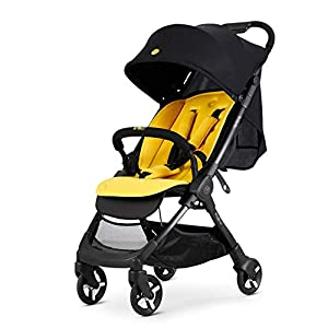 AIFXZ Stroller Bassinet Folding Pram Strollers Infant All Baby Carriage City Select Toddler Pushchair for Girl Boy add Net Cover,Yellow   13