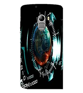 PrintDhaba meter D-5958 Back Case Cover for LENOVO K4 NOTE A7010a48 (Multi-Coloured)