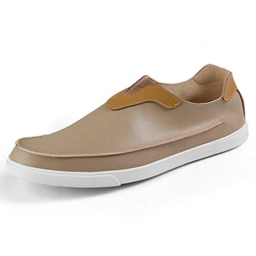 Homme Confort Sans Loafers on Microfibre Plat Slip Bateau Passant Chaussure  Lacet Mode Beige Basket Mocassin ... 051e0a9ac73f