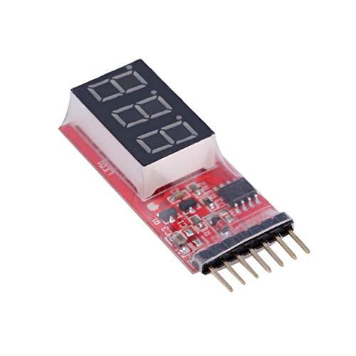 Banbie8409 RC Voltage Lipo Battery Meter Tester Anzeige 2-6 Zellen LED Panel Voltmeter-rot-