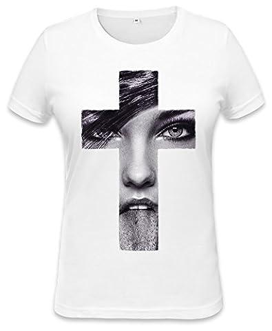 Girl Face Cross Womens T-shirt XX-Large